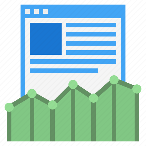 graph, internet trends, line graph, online trends, trends, website trends icon