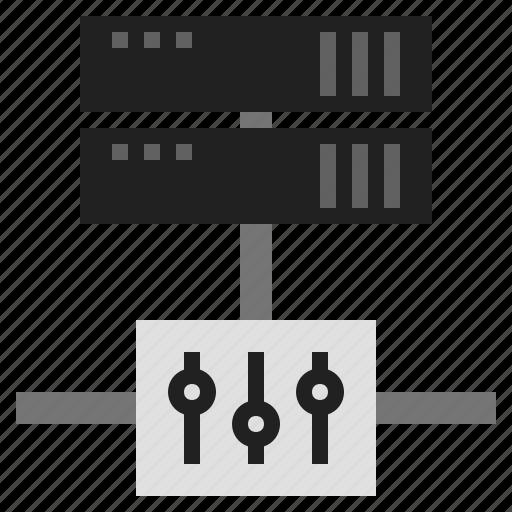 configuration, server configuration, server settings, settings, web server, web server setting icon