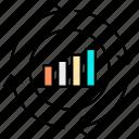 analytics, business, chart, diagram, graph, seo, statistics icon