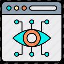 business, digital marketing, digital vision, eye, seo, solution, strategy icon