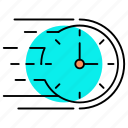 business, clock, engage time, management, optimization, schedule, time table icon