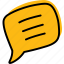 comment, communication, contact, message, tip icon