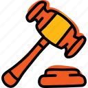 attorney, court, gavel, law, lawsuite, legal icon