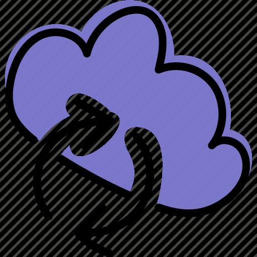 cloud, internet, storage, sync icon