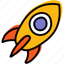 boost, launch, proactive, rocket, startup icon