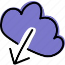 cloud, data, download, online, storage icon