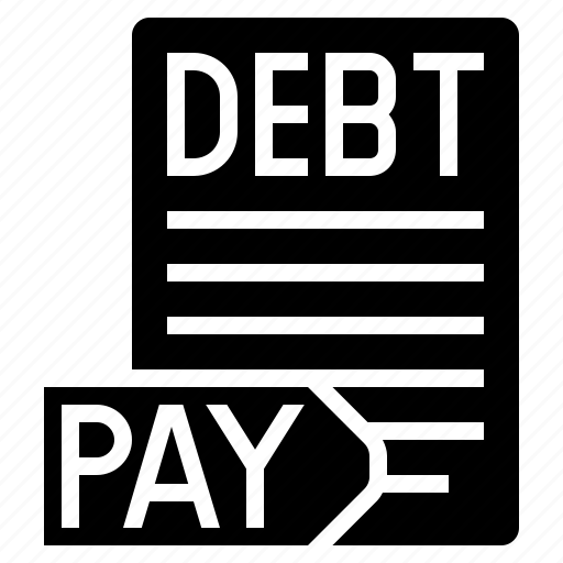 debt, debt free, pay debt, paying debt icon
