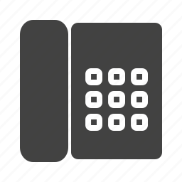 communication, connection, office, phone, receiver, telephone icon