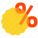 label, percentage, sale, tag icon
