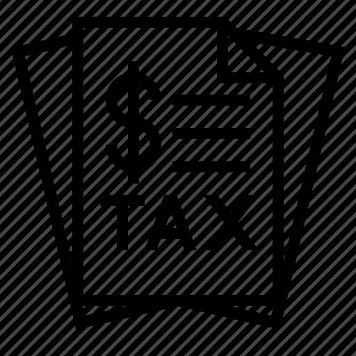 tax, tax document, tax file, tax listing, tax paper icon
