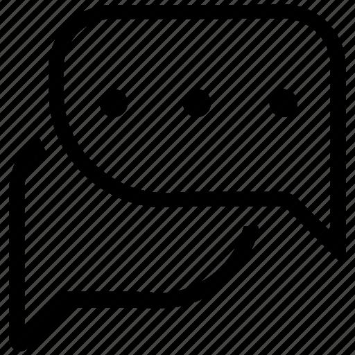 chat, communication, conversation, customer service, speech bubbles, talk icon