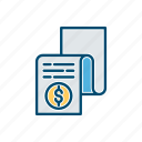 agreement, business, document, line, thin, value icon