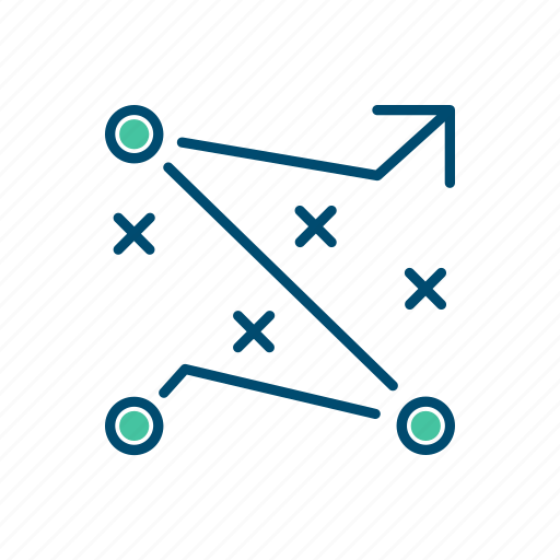 business, line, plan, strategy, teamwork, thin icon