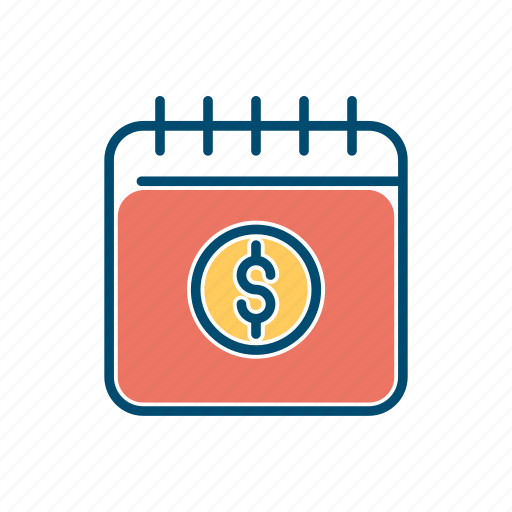business, line, money, notebook, thin icon