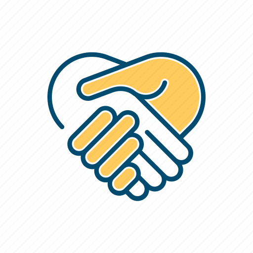 agreement, business, contract, hands, line, shake, thin icon