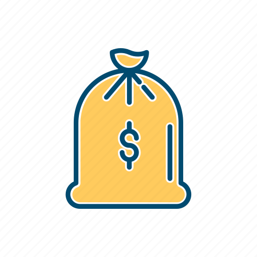 bag, business, line, money, thin icon
