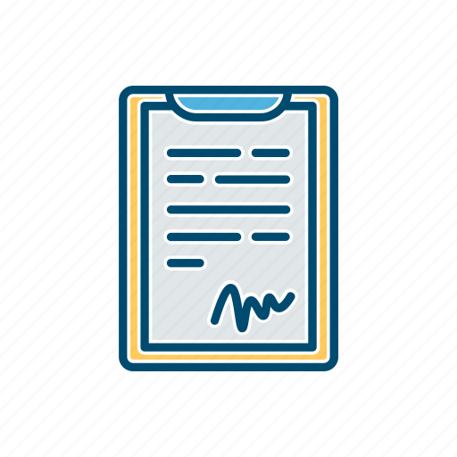 business, document, line, signiture, thin icon
