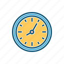 business, clock, line, thin, time icon