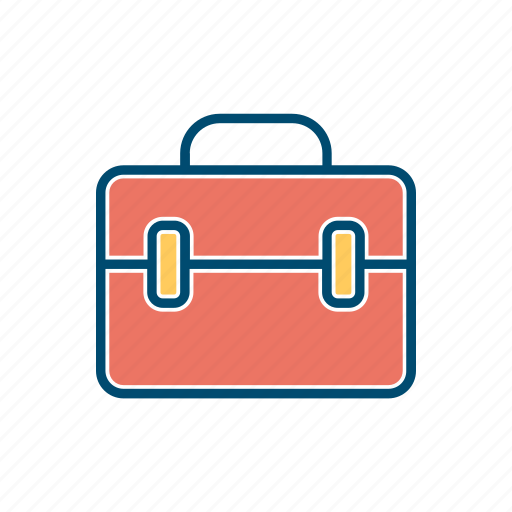 bag, briefcase, business, line, portfolio, thin icon