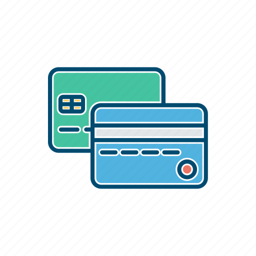 business, card, credit, debt, line, thin icon
