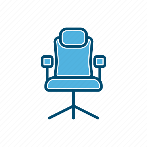 business, chair, line, thin icon