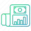 business, document, graph, report icon