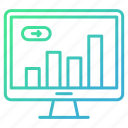 business, chart, growth, online, report icon