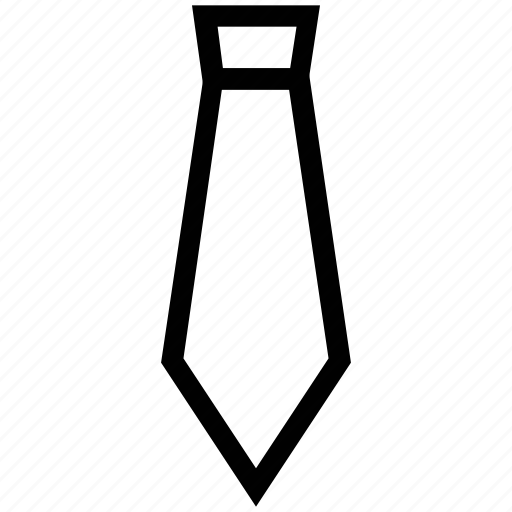 business, clothes, fashion, formal tie, necktie, office tie, tie icon