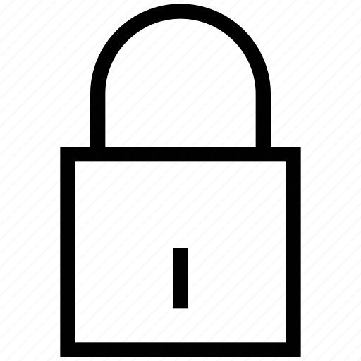 closed, door lock, lock, padlock, protection, safety, security device icon