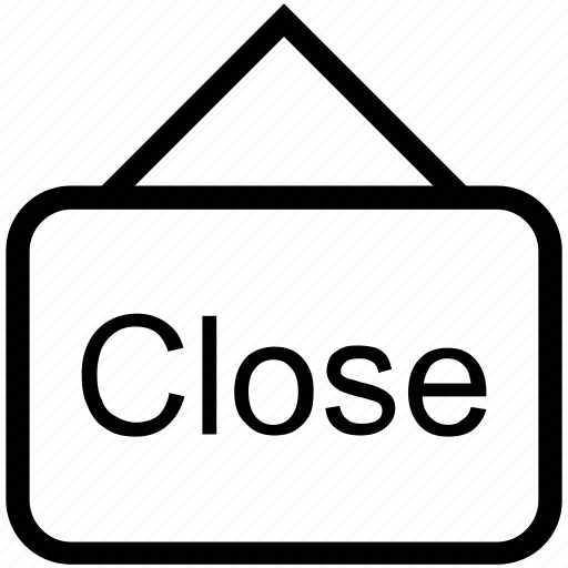 close, close label, close shop, close tag, shopping mall, shopping store, store icon