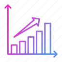 business, data, growth, increase, report icon