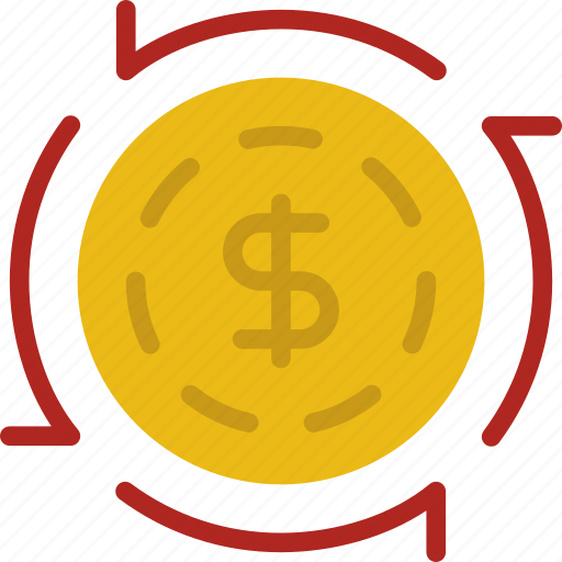 bank, business, circulation, financial, money, sell icon