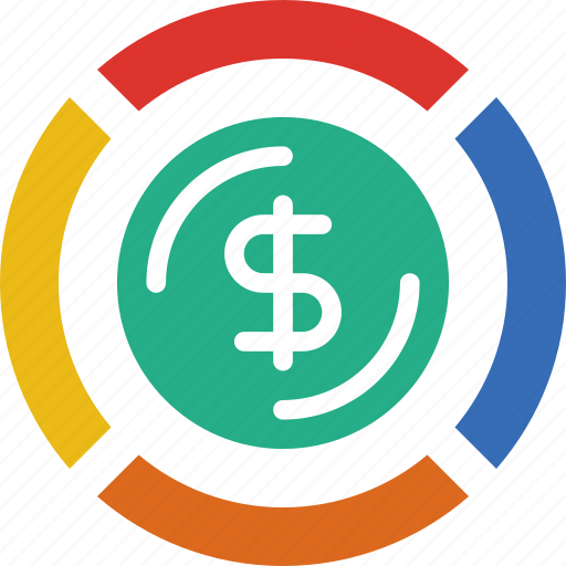 bank, business, diagram, financial, money, sell icon
