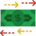bank, business, exchange, financial, money, sell icon