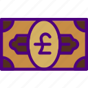 bank, bill, business, financial, money, pound, sell icon