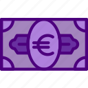 bank, bill, business, euro, financial, money, sell icon