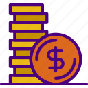 bank, business, coins, financial, money, sell icon