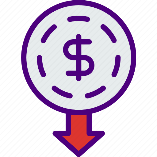 bank, business, financial, give, money, sell icon