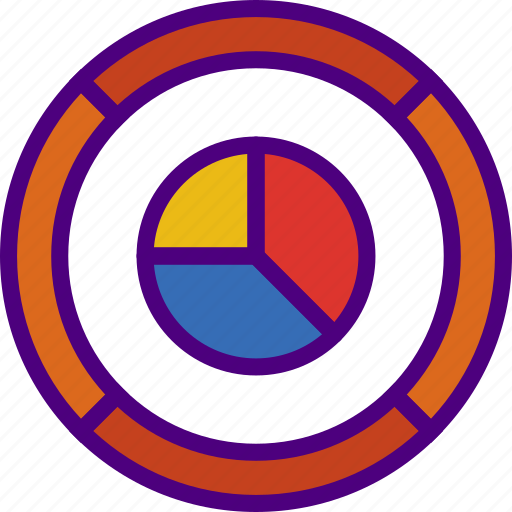 bank, business, chart, financial, money, pie, sell icon
