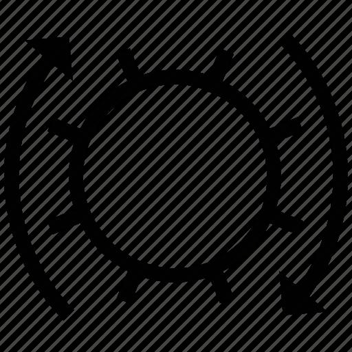 cogs, cogwheel, gear, moving cogwheel, wheel icon