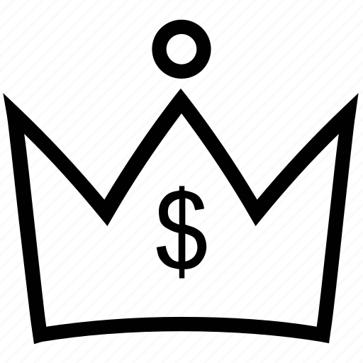 business, commerce, crown, dollar, finance, investment icon