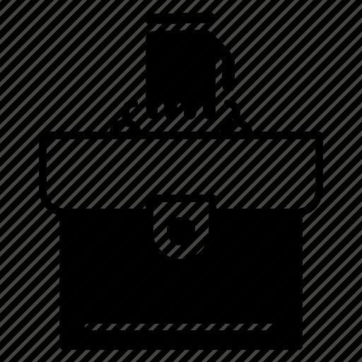 bag, baggage, briefcase, job icon