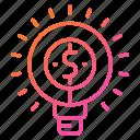 business, idea, innovation, light, money