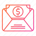 banking, business, mail, message, sms, tax icon