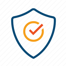 access, actuarial, authorization, encrypted, guarantee, insurance, permission, protected, safe, secured, shield, verified icon