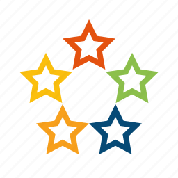 best, favorite, featured, five, fivestar, popular, quality, rate, rating, recommend, review, stars icon