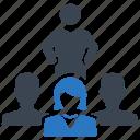 crowd, group, leadership, team icon