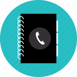 address, book, business, contact, organizer, phone, phonebook, telephone icon