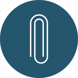 attach, attachment, binder, clip, office, paperclip, tool icon