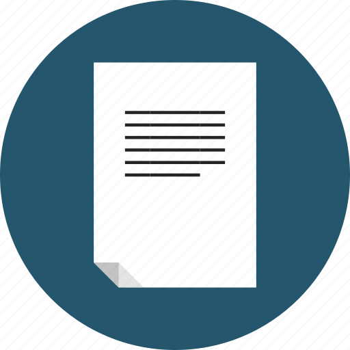 Document, file, note, page, paper, sheet, text icon | Icon ...